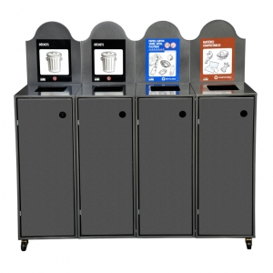 4-Stream MODULO Waste or Recycling Receptacle