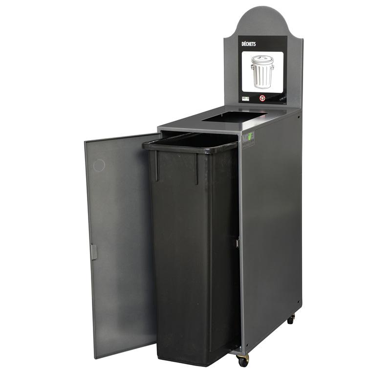 Station de recyclage poubelle 1 compartiment 1 stream recycling station bin Nova Mobilier Modulo 901