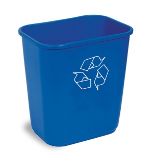 Corbeille poubelle bureau deskside recycling bin waste basket Nova Mobilier KA2818-REC