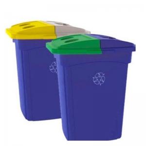 Poubelle 2 voies dechets recyclage recycling receptacle bin ka645 nova mobilier 1