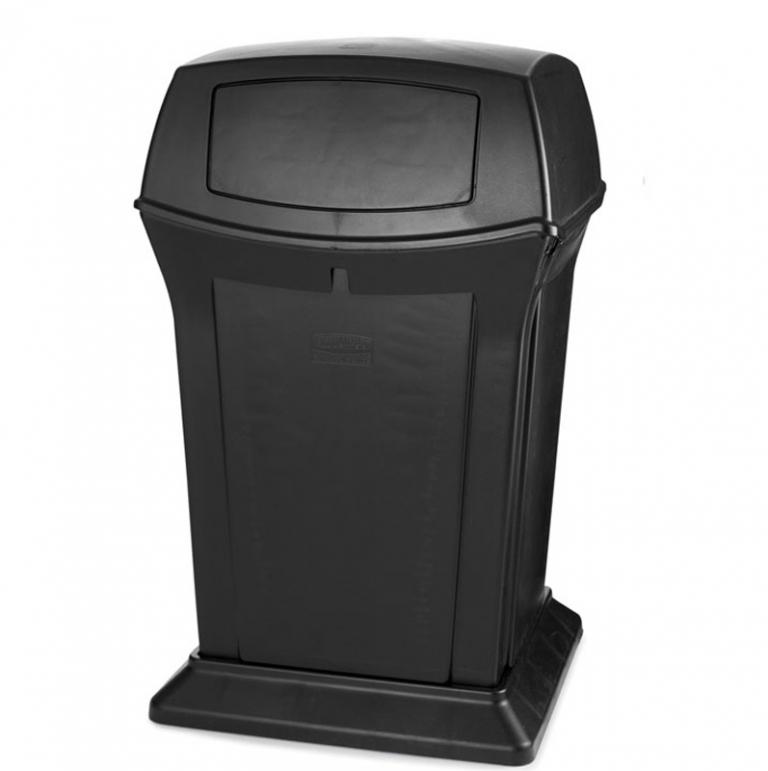 Poubelle contenant plastique RU9171 88 black bin Nova Mobilier