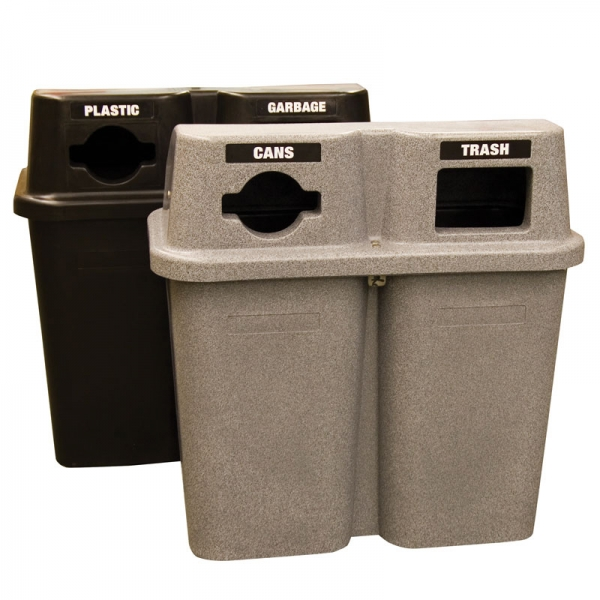 Poubelle station recyclage recycling station bin 565duo nova mobilier