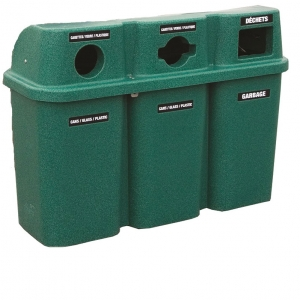 Poubelle station recyclage recycling station bin 575trio nova mobilier 3
