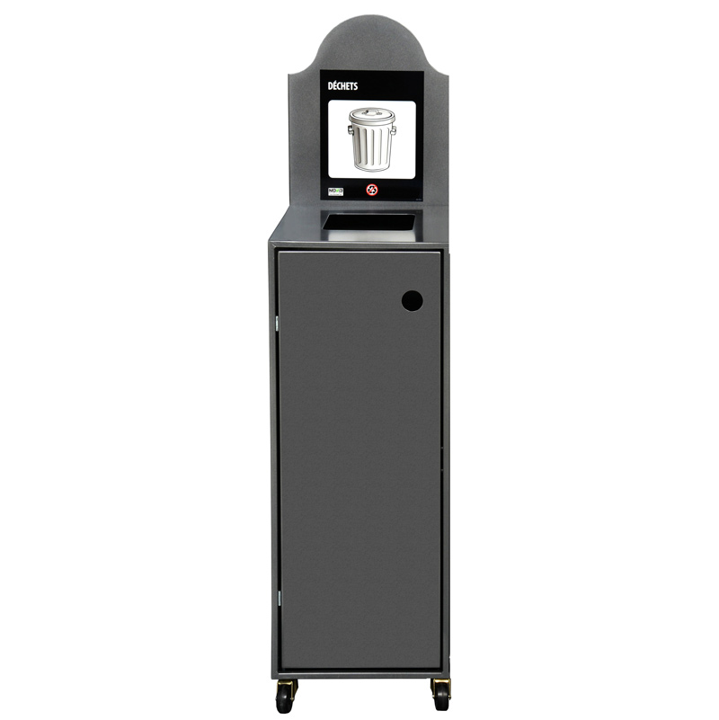 Station de recyclage poubelle 1 compartiment 1 stream recycling stationbin Nova Mobilier Modulo-901 3