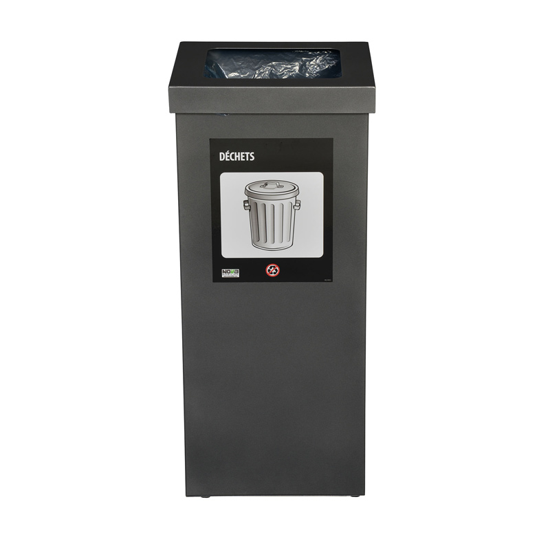 Station de recyclage poubelle 1 compartiment 1 stream recycling station bin Nova Mobilier nova65 1 2 web