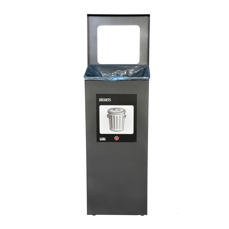 Station de recyclage poubelle 1 compartiment 1 stream recycling station bin Nova Mobilier nova65 1 3 web