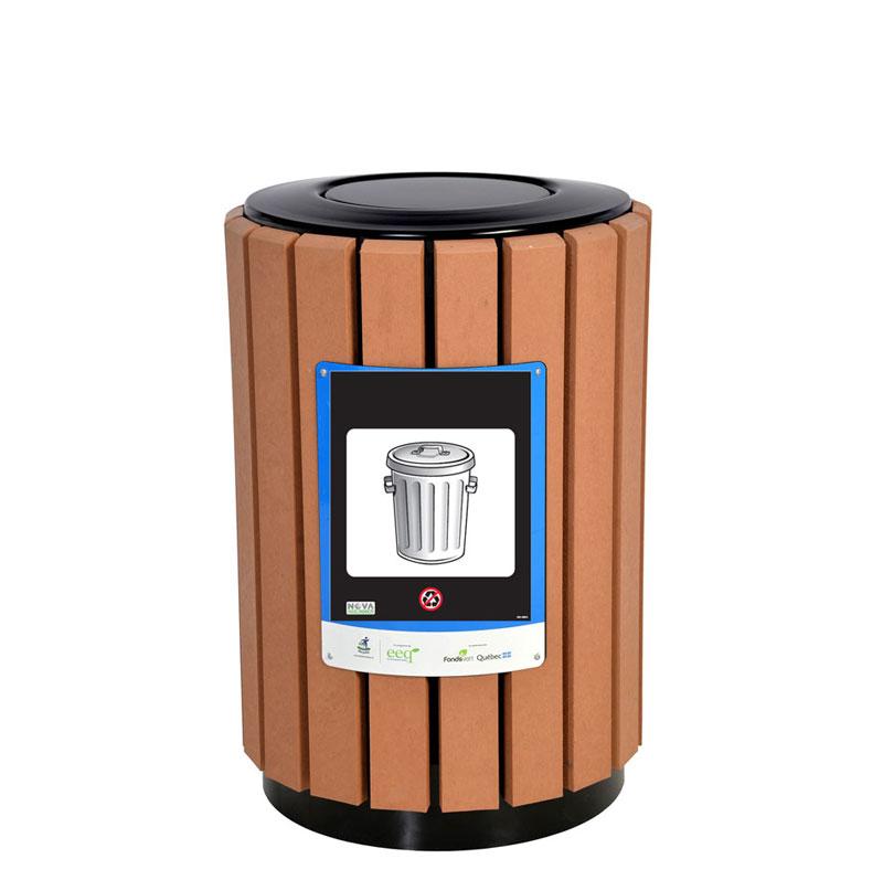 Poubelle urbaine panier a rebut urbain bin receptacle container city d 2 nova mobilier web