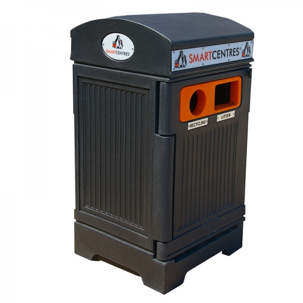 2-Stream waste and recycling receptacle | PHOENIX DUO