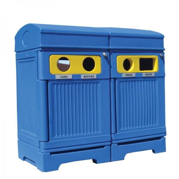 Station déchets et recyclage 4 voies PHOENIX