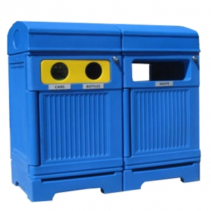 3-Stream waste and recycling receptacle | PHOENIX