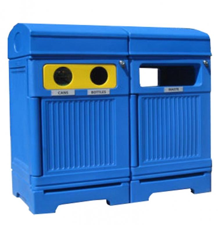 Station déchets et recyclage 3 voies PHOENIX