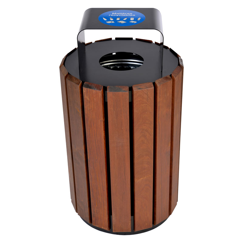Poubelle urbaine panier a rebut dechets recyclage urban bin receptacle container recycling city 5 Nova Mobilier