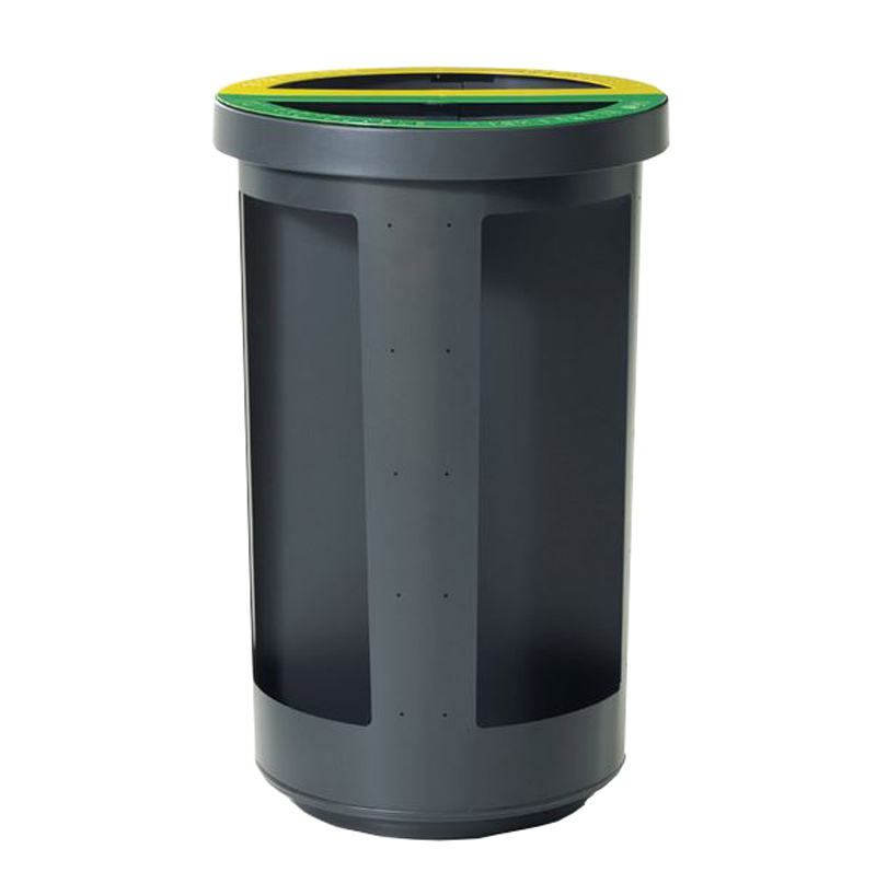 Station corbeille poubelle recyclage dechets recycling litter container receptacle Duo bin security Nova Mobilier